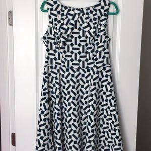 Blue, black, and white Dress size 14